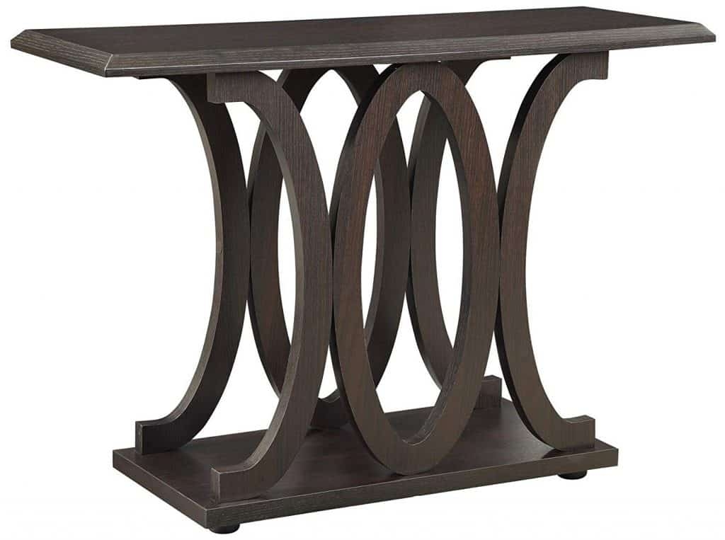 C-Shaped Cappuccino Sofa Table