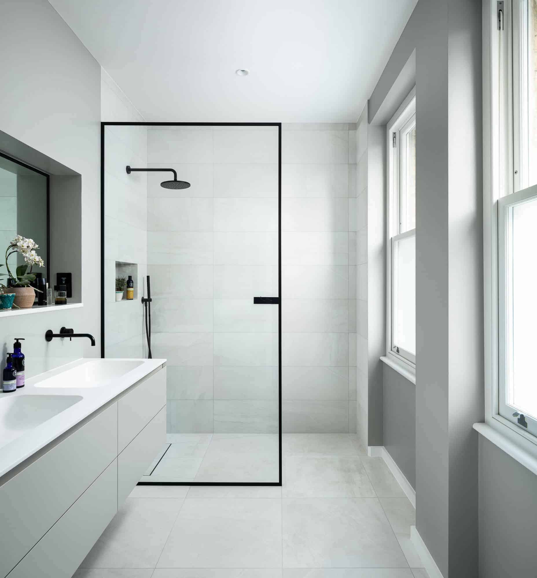 Minimalist Single Panel Doorless Shower