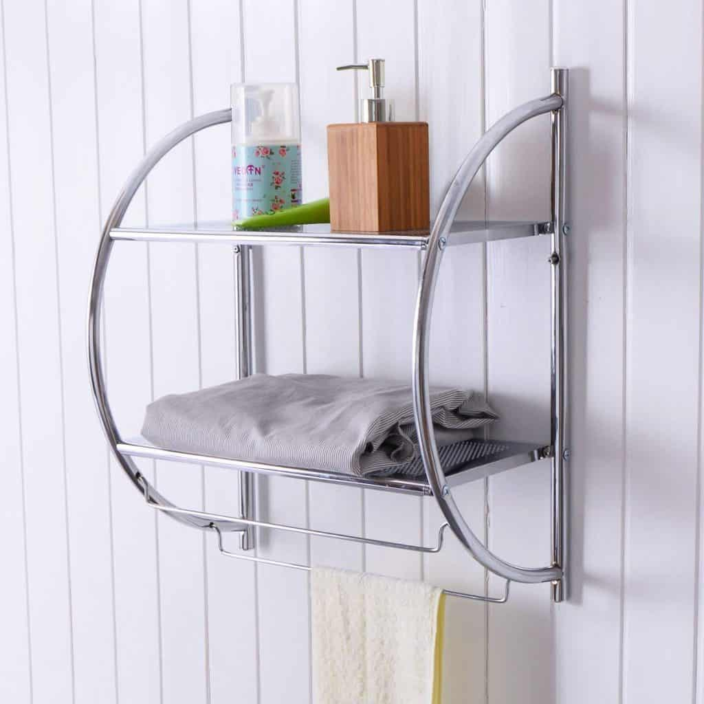 Wire Shelf and Towel Rack