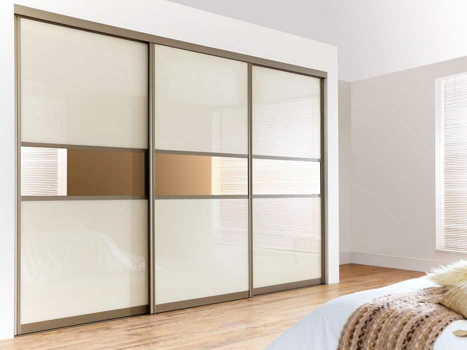 Layered Glass Door Idea