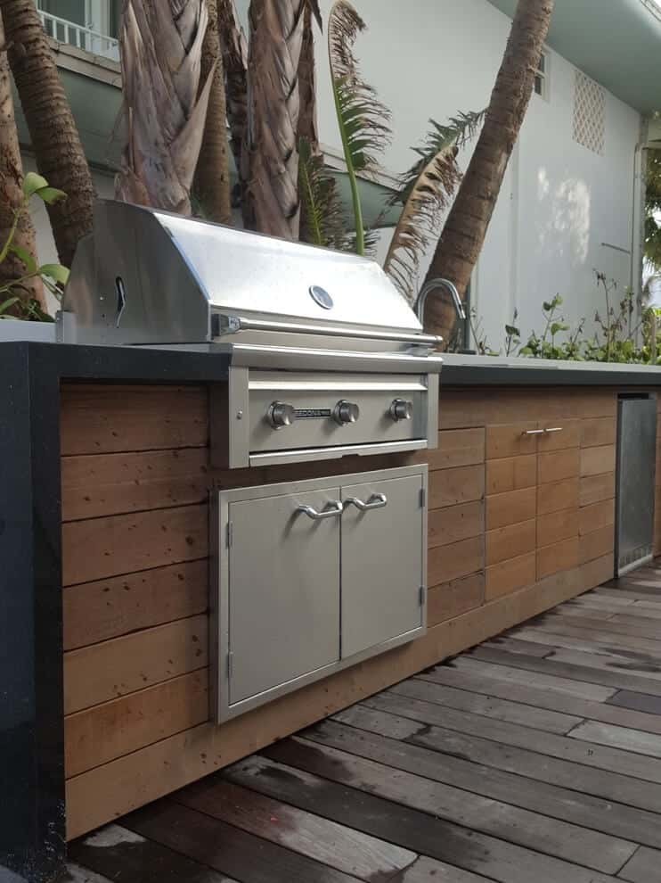 What is the best outdoor kitchen countertop material?