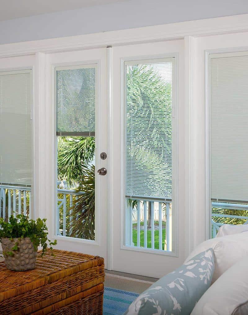 Fingertip controls make adjusting these blinds a breeze