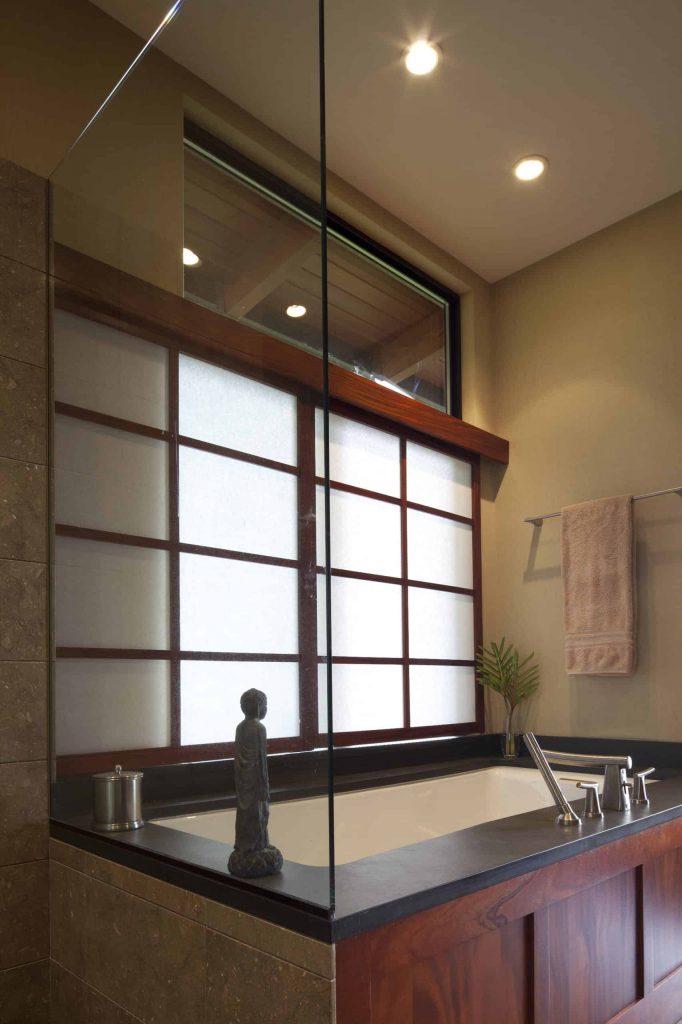 trendy beige floor bathroom design in Denver