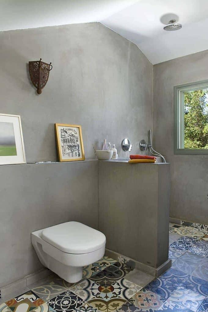 Spanish Tile Stucco Shower