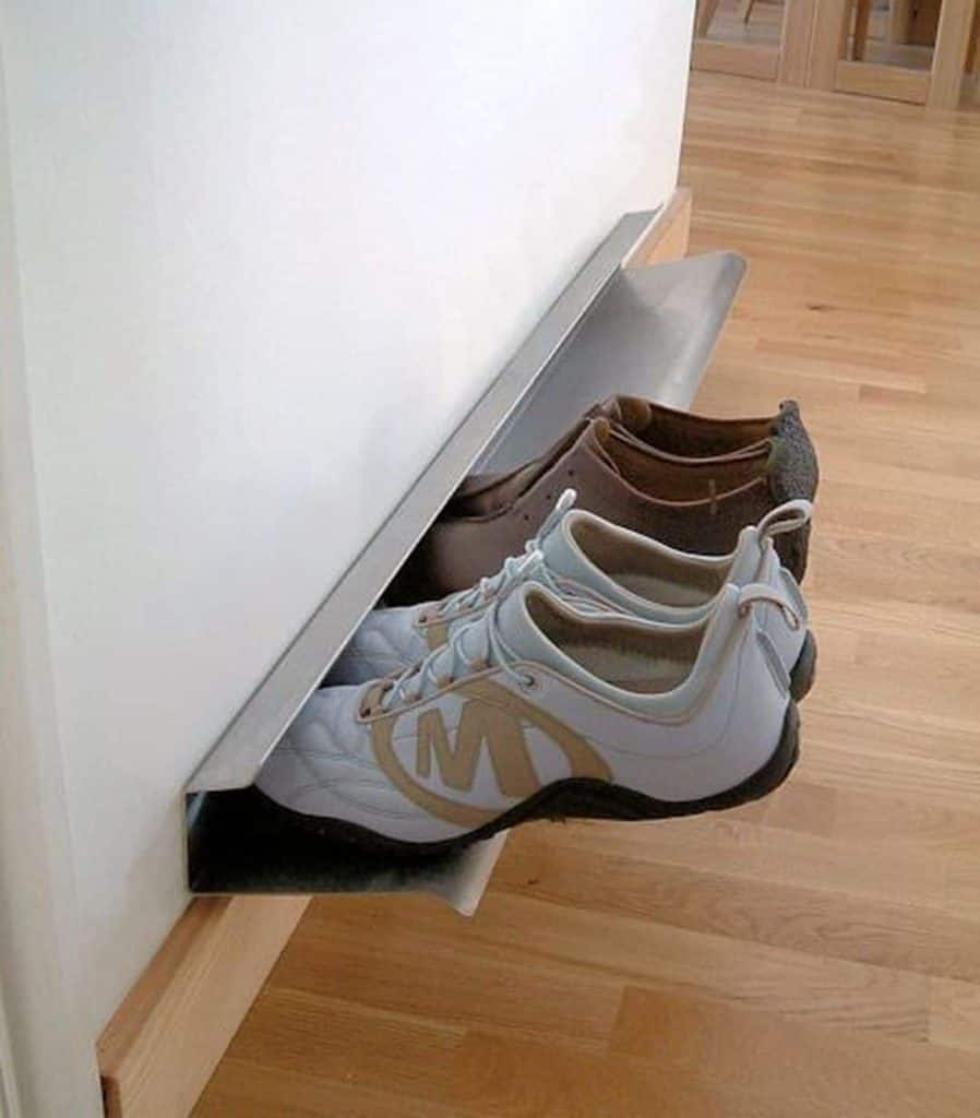 Minimalist Metal Shoe Shelf