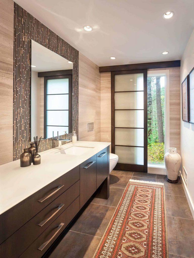 double-sink bathroom photo in Seattle