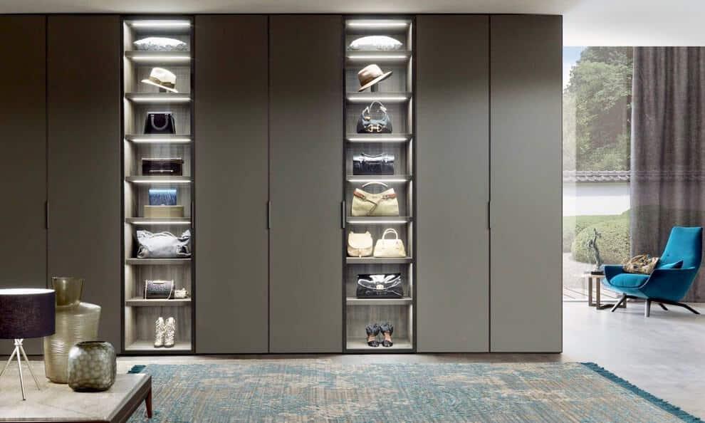 Trendy Open Concept Floor to Ceiling Doors