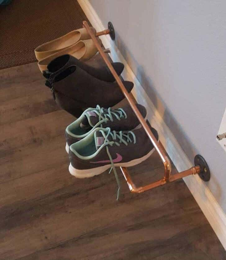Copper Pipe DIY Shoe Rack