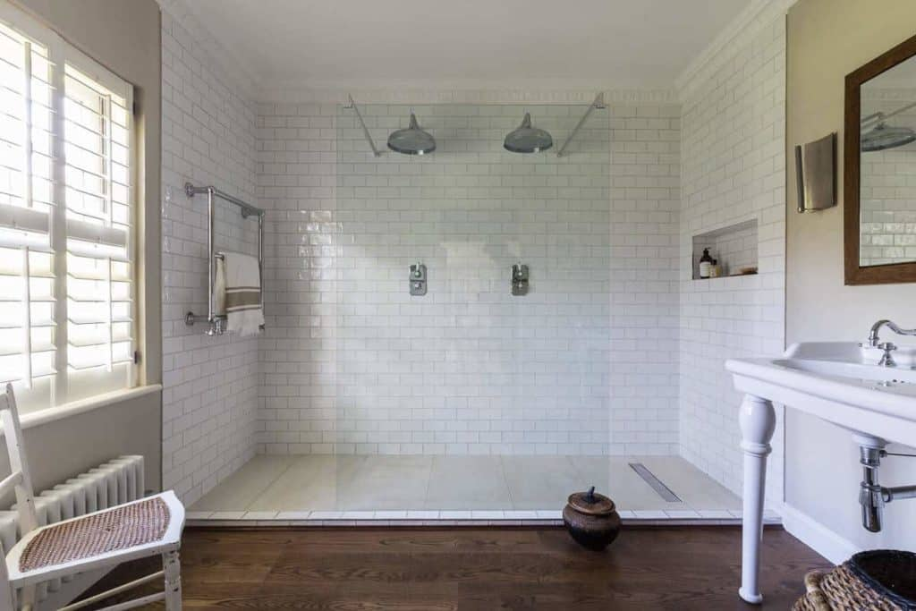 Rustic Industrial large shower design ideas