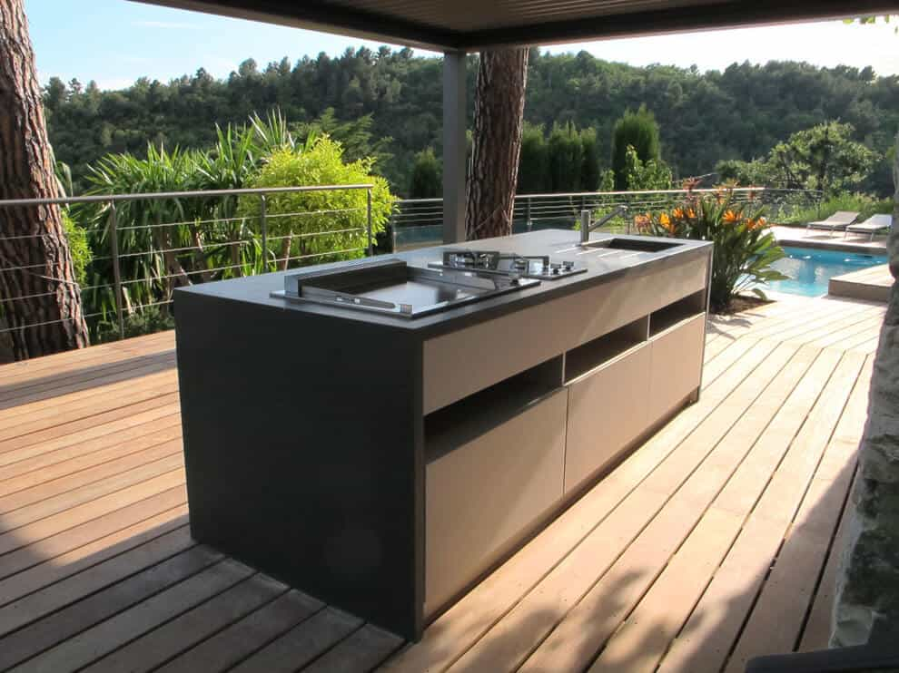 Can you use normal kitchen cabinets outdoors?
