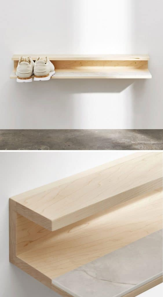Minimalist Wooden Shoe Shelf