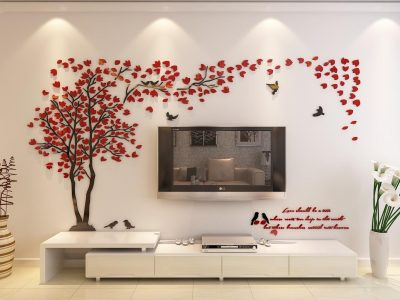3d Couple Tree Wall Murals