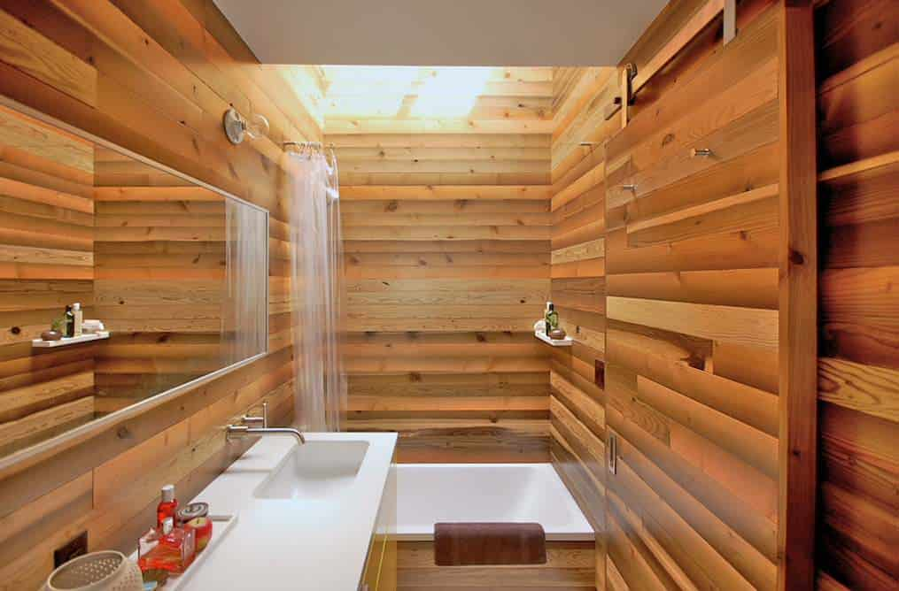 black tile bathroom remodel in San Francisco