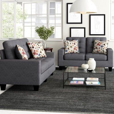 Amia 2 Piece Living Room Set