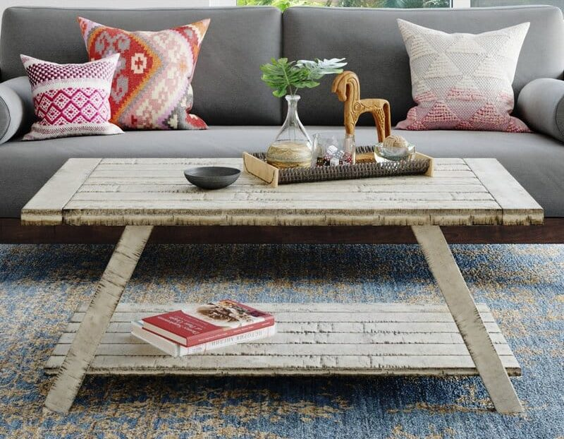featured distressed coffee table