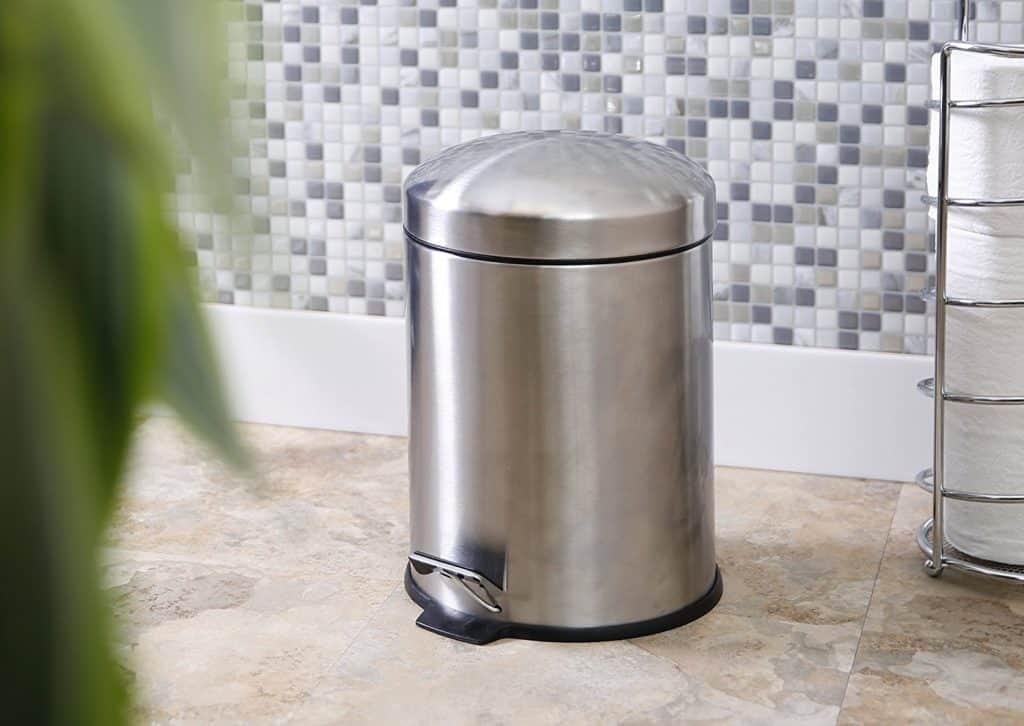 BINO Stainless Round Step Trash Can