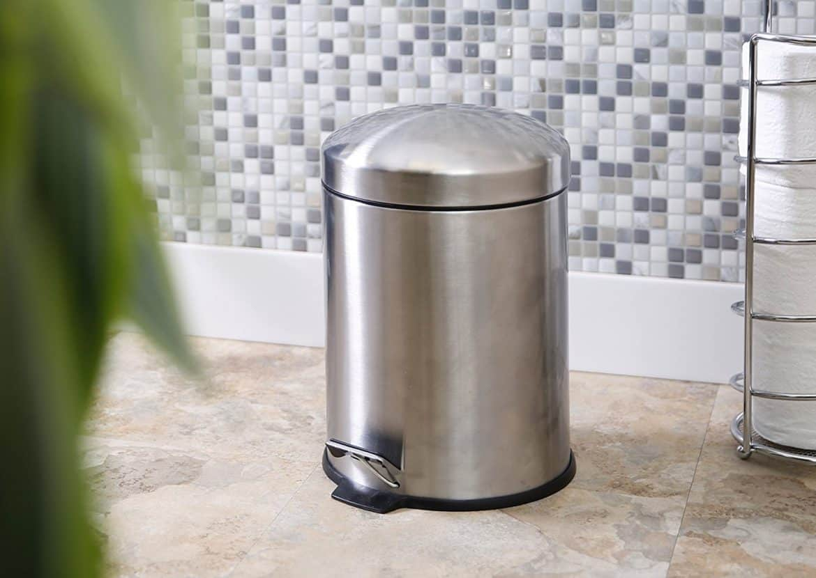 BINO Stainless Round Step Trash Can