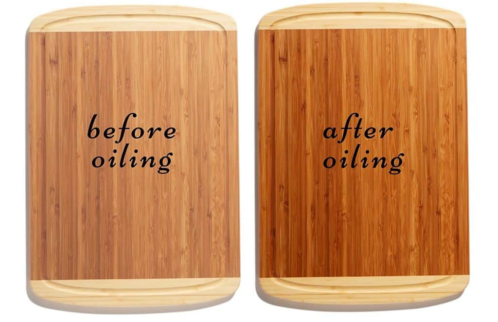 Bamboo Cutting Board Spray - Before and After