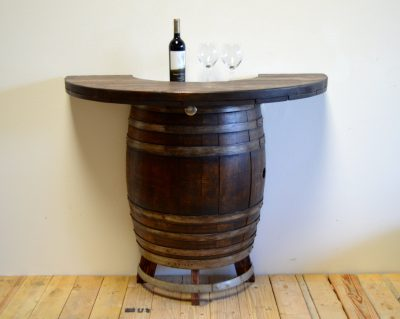 Bar Height Barrel Cocktail Table
