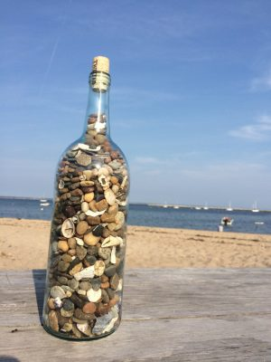Beach in a Bottle Large Upcycled Wine Bottle