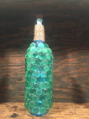 Beaded Wine Bottle Lamp