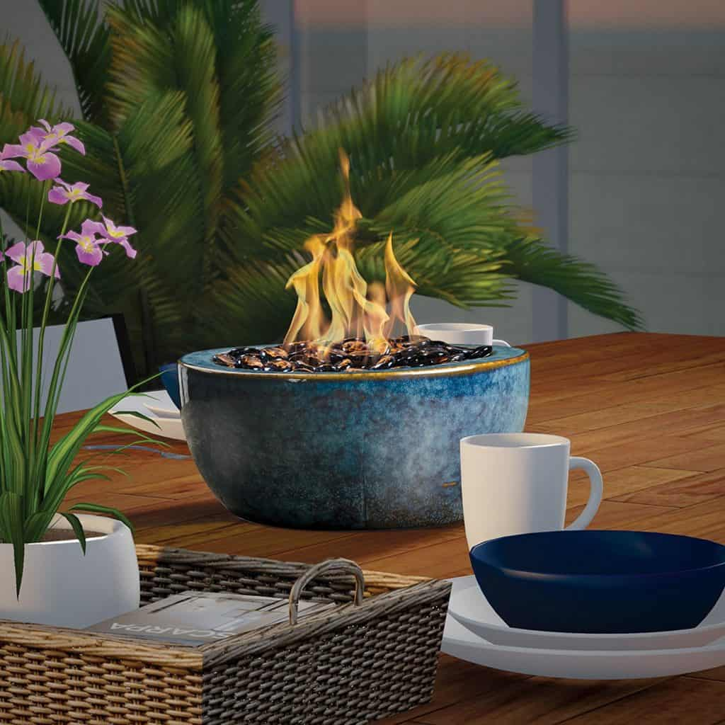 Bond Tabletop Umbrella Hole Mounted Gas Firebowl