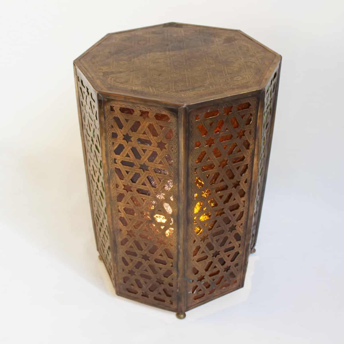 Brass Moroccan Table Light