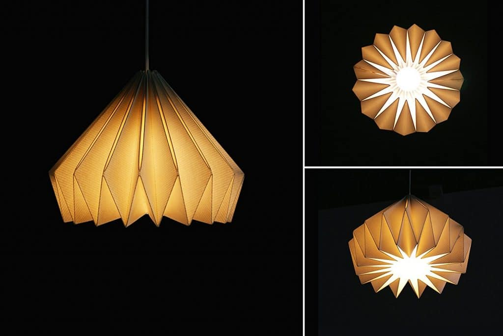 Brownfolds Paper Origami Lamp Shade; Vanilla Bliss Dual Pack Pearl Gold