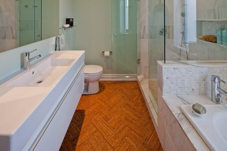 can cork flooring be installed in a bathroom rh decorsnob com