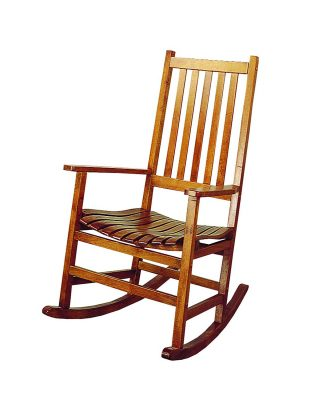 Coaster Southern Country Plantation Porch RockerRocking Chair, Oak Wood Finish