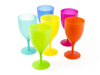 Colorful Plastic Picnic Party Supply Set - Plastic Goblets