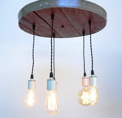 Corona - Wine Barrel Head Adjustable Chandelier