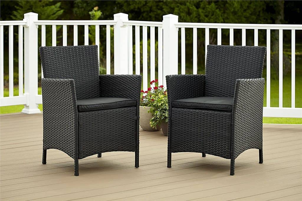 Cosco Dorel Industries Outdoor Jamaica Resin Wicker Dining Chair