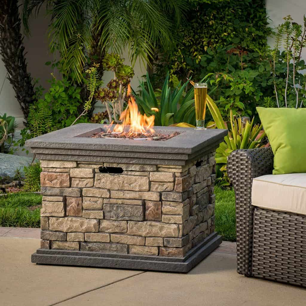 Crawford Outdoor Square Liquid Propane Fire Pit