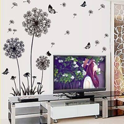 Dandelion and Butterflies Self-adhesive Wall Decals