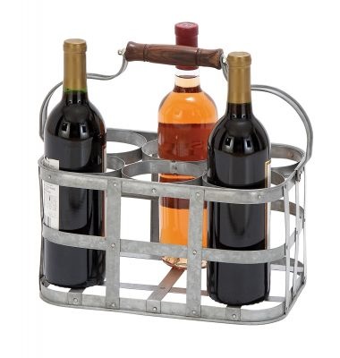 Deco 79 Vino 6 Bottle Tabletop Wine Rack
