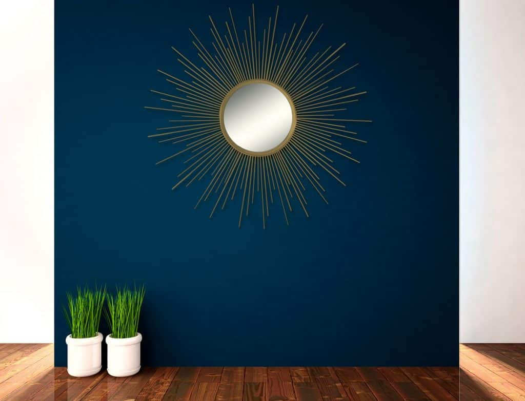 Decorative Wall Hanging Mirror in Sunburst Shape