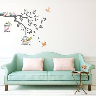 Decowall, DW-1510,Birds on Tree Branch