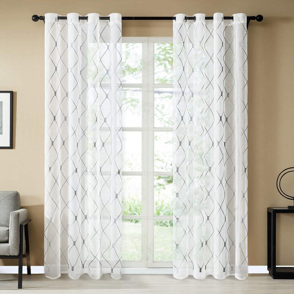 Diamond Grommet Window Curtains