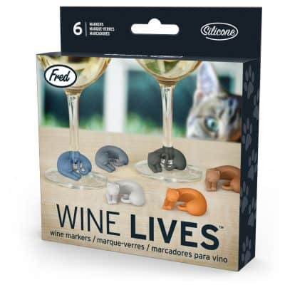 Fred & Friends WINE LIVES Kitty Drink Markers
