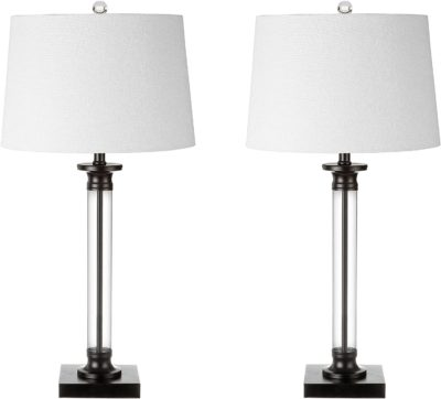 Glass and Metal LED Table Lamp