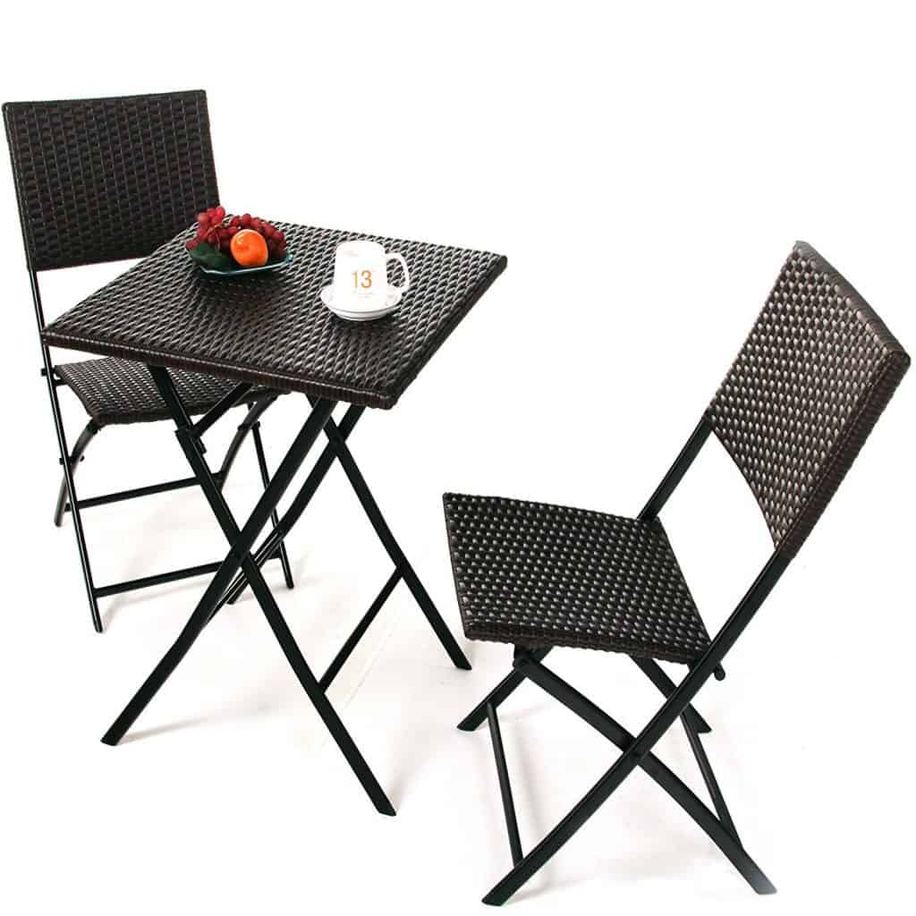 Grand Patio Parma Rattan Patio Bistro Set