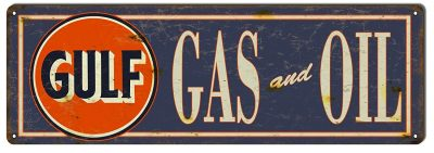Gulf Gas & Oil Sign