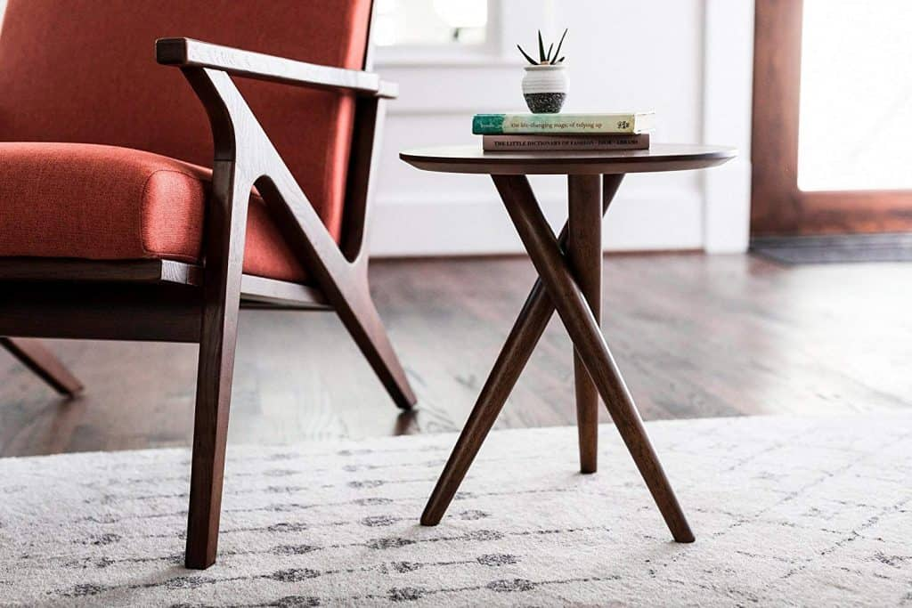 Gus Small End Table for Living Room - Mid Century Modern End Table