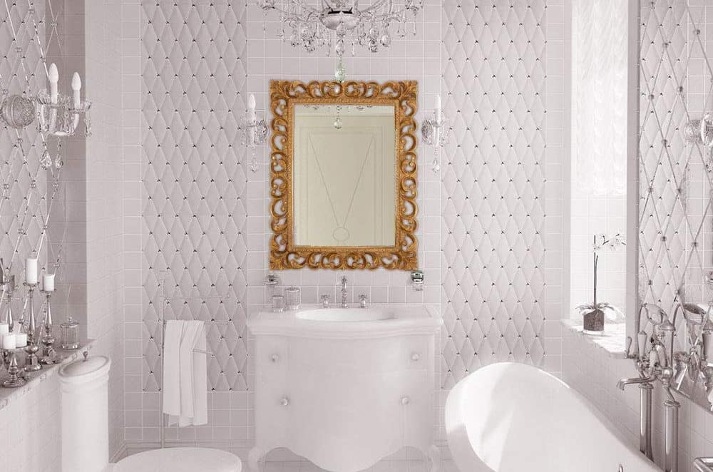 Hamilton Hills Antique Gold Ornate Baroque Frame Mirror Elegant Old World Feel Beveled Plate Glass Mirrored Design Hangs Horizontal or Vertical (28.5 x 36.5)