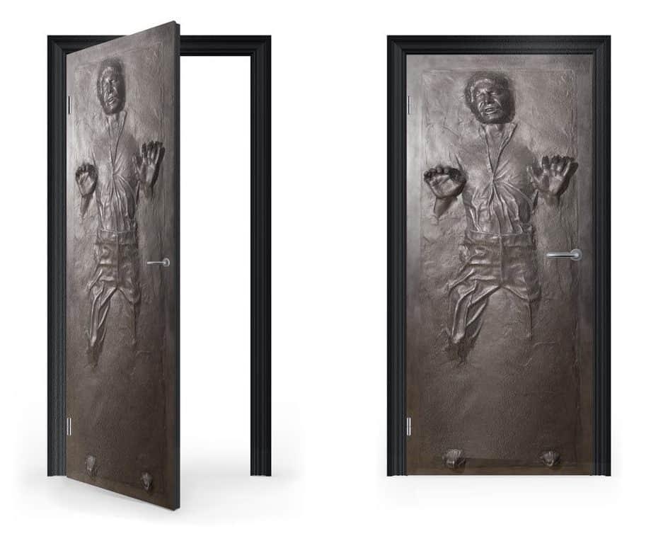 Han Solo in Carbonite Vinyl Sticker for Door