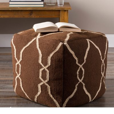 Hand Crafted Square Shape Small Ottoman