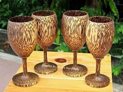 Handmade Wooden Wine Glass Glasses