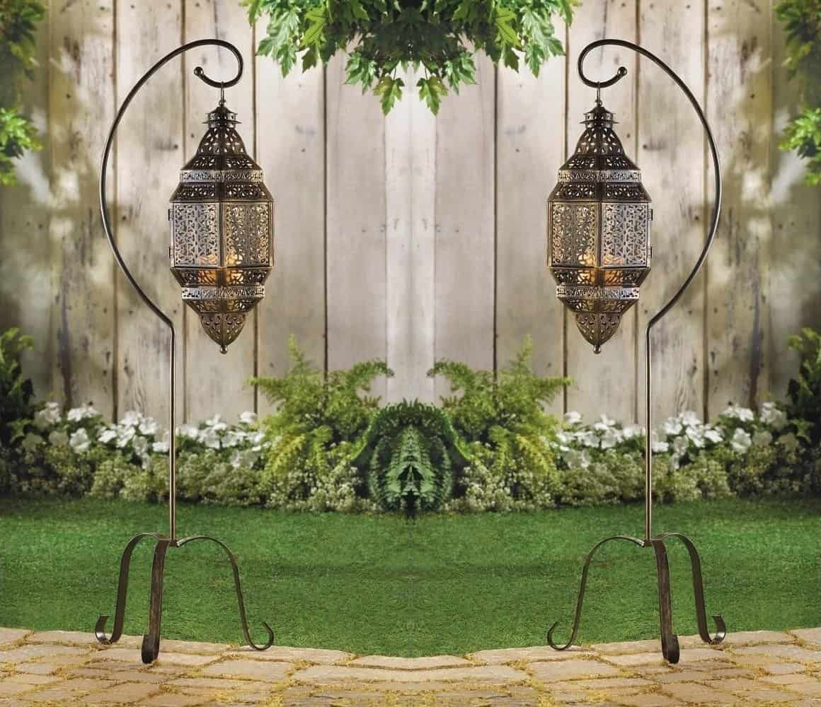 Hanging Moroccan Lantern Pendant Candle Holder Lamp Floor Stand Outdoor