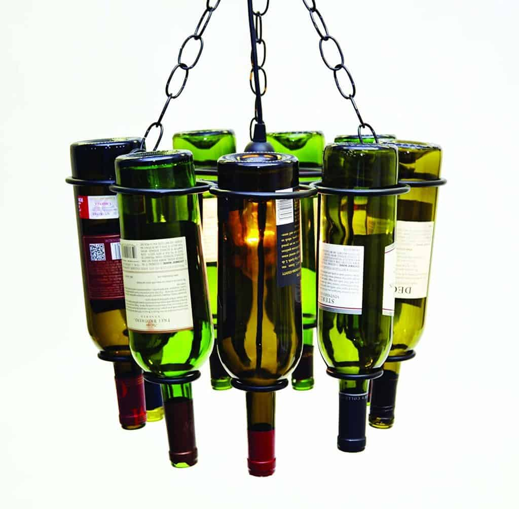 Hanging Wine Bottle Socket Set Pendant Lamp